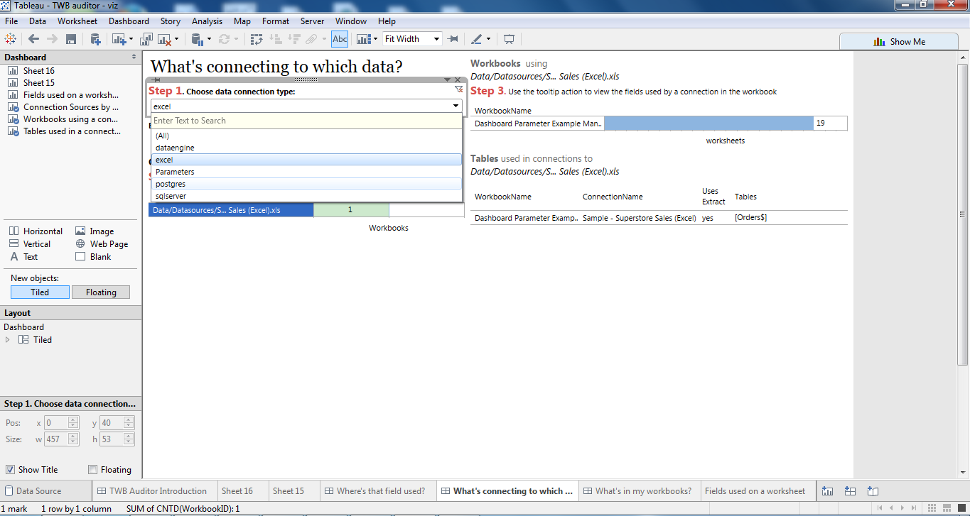 How to use TWB Auditor with TableauFS: Audit Tableau Server