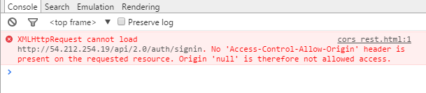 "This is the classic ""No 'Access-Control-Allow-Origin' header is present on the requested resource."" error"