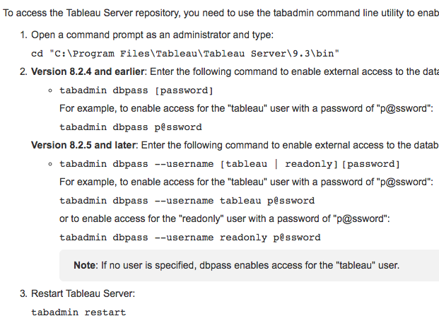 Reconfiguring Tableau Server without Restart: The Basics